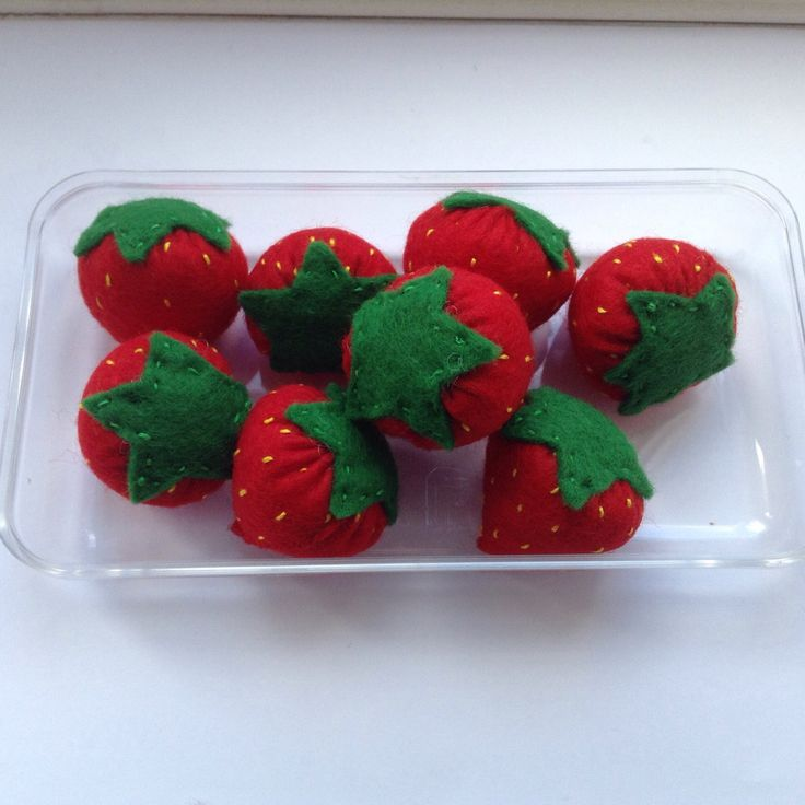 A personal favorite from my Etsy shop https://www.etsy.com/listing/235822308/gorgeous-decorative-felt-strawberries
