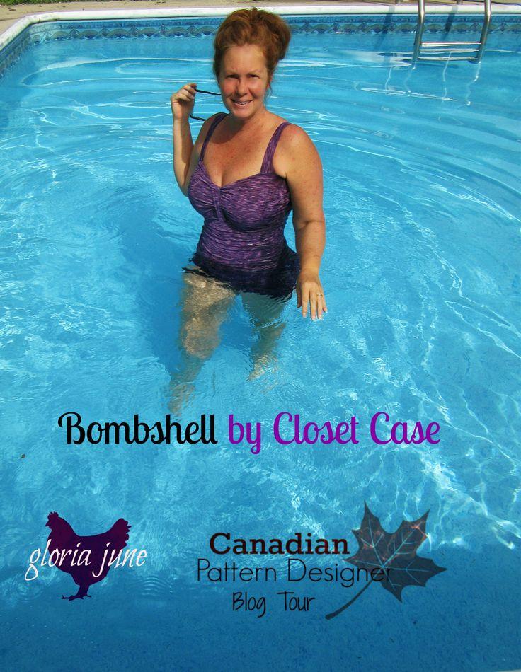 gloria june: Canadian PDF Pattern Designer Tour - Bombshell Swim Suit & Giveaway!
