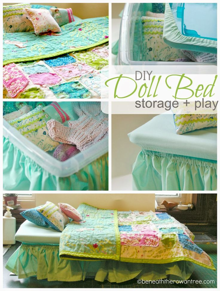Beneath the Rowan Tree: Handmade Christmas :: DIY American Girl Doll Bed, Bedding and Storage