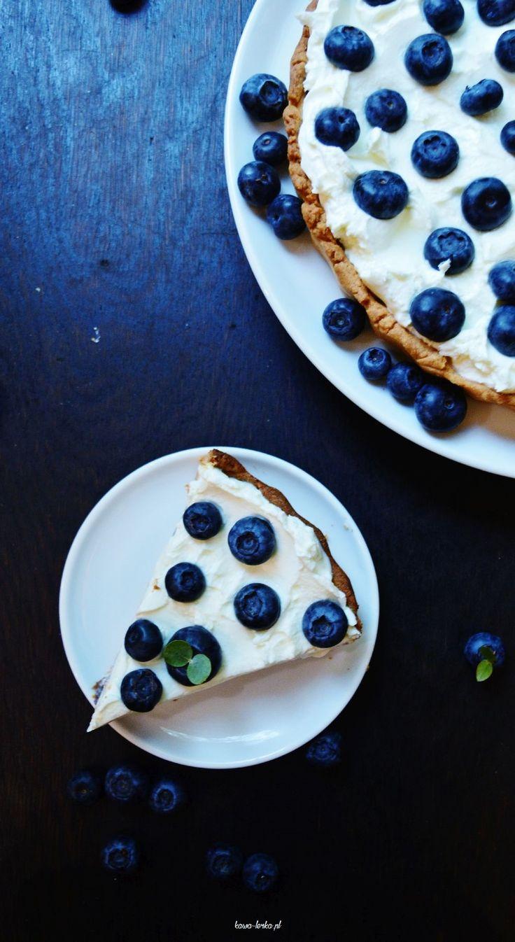tajemniczy bór. tarta z borówkami. bluberry tart cake.