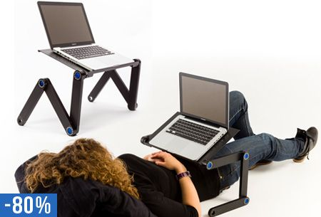 Verstelbare laptoptafel nu slechts €19,95 | Voor in bed, op de bank of op kantoor! #laptop #tafel #verstelbaar