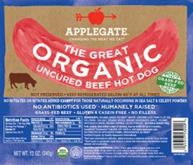 Products - Hot Dogs - Organic Gluten Free Beef Hot Dogs - Applegate