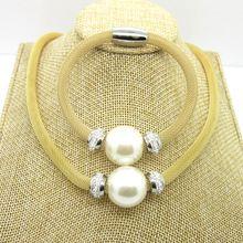 2015 módne Fine Ženy White Big simulované Pearl šperky súpravy perlové náhrdelníky náramok darček pre ženy Doprava zdarma (Čína (pevninská časť))