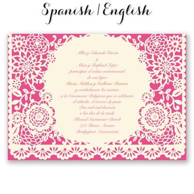 Permalink to Traditional Mexican Wedding Invitations