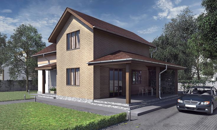 Two-storey house 138 sq.m  #buindilg #design #architecture #canadianhouse #vacationhome #countryhouse #cottage