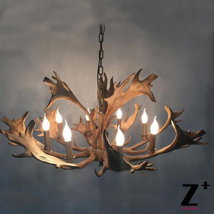De alta calidad de estilo country americano rústico alces 4 araña de luz de la lámpara de resina de cuerno de ciervo free gratis en Luces colgantes de Luces e Iluminación en AliExpress.com | Alibaba Group