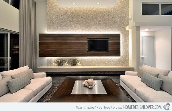 15 Splendid Modern Family Room Designs
