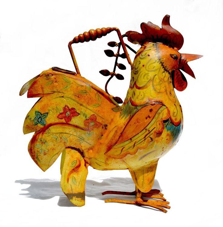"Original Artwork, Handmade Metal ""Rooster"" Farmhouse Sculpture,  Great Gift Idea http://www.ebay.com/itm/252634931894?ssPageName=STRK:MESELX:IT&_trksid=p3984.m1555.l2649"