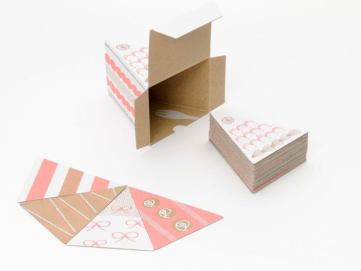 """Popatrz na ten projekt w @Behance: """"PIECE OF CAKE CARD"""" https://www.behance.net/gallery/35123173/PIECE-OF-CAKE-CARD"""
