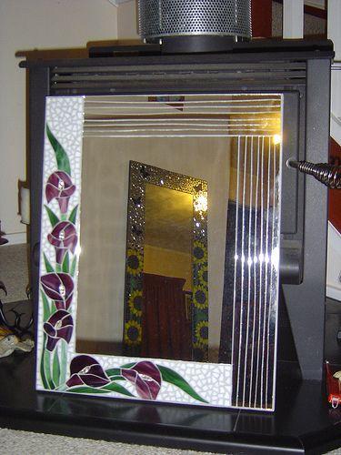 Mosaic mirror | My calla lily mirror | Diane Kitchener | Flickr