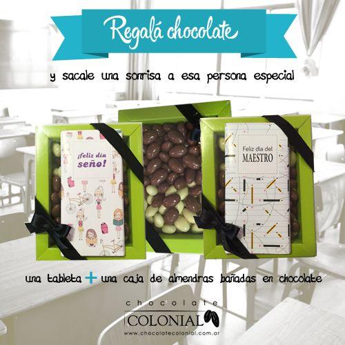 ¿No sabes qué regalar a las seños? Chocolate Colonial te ofrece un kit de #sabor y #calidad. Compralo por Mercado pago y aprovecha las promos bancarias: Feliz día Seño: http://mpago.la/wS7m  Feliz dìa del Maestro: http://mpago.la/ejON