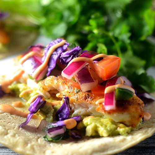 Tilapia Fish Tacos - Feed Your Soul Too   #Mexicanfood #seafoodrecipes