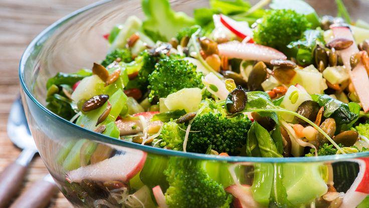 broccolisalat med spirer
