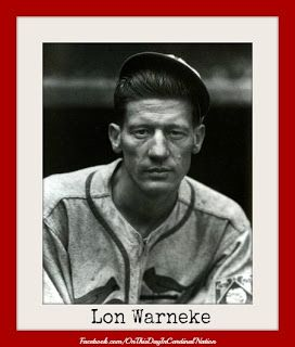 On this day in Cardinal Nation 8-30-1941 Lon Warneke pitched the fourth no-hitter in the history of the St. Louis Cardinals organization as the team beat the Reds 2-0 in Cincinnati. The Cardinals hurler allowed just one walk, while two errors accounted for two more baserunners. Not one of the those men reached second..cont.