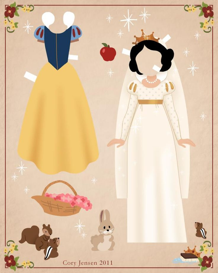 snow white paper doll 2 | paper dolls by cory