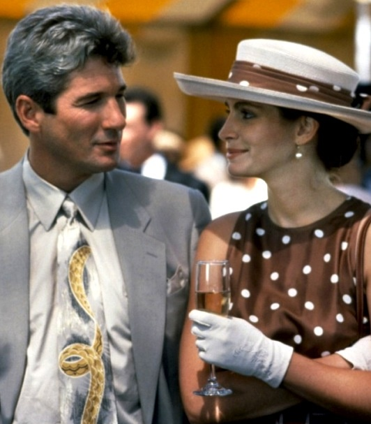 "The minute I saw this dress in the movie ""Pretty Woman"" I started looking for it in stores...Richard Gere & Julia Roberts - 1990"