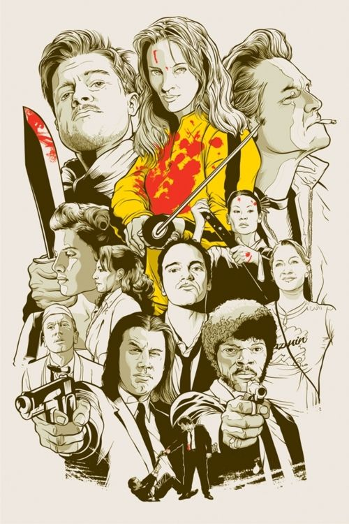 tarantino charactersCharacter Art, Quentin Tarantino, Quentintarantino, Tarantino Movie, Collage, Fans Art, Film Posters, Line Art, Art Illustration