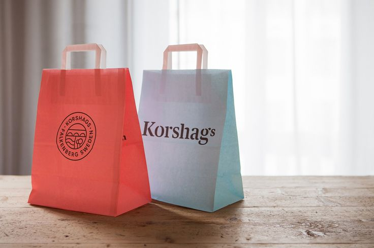 Visual identity and shopping bag design for Korshags by Kurppa Hosk