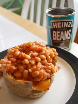 Classic jacket potato with baked beans!