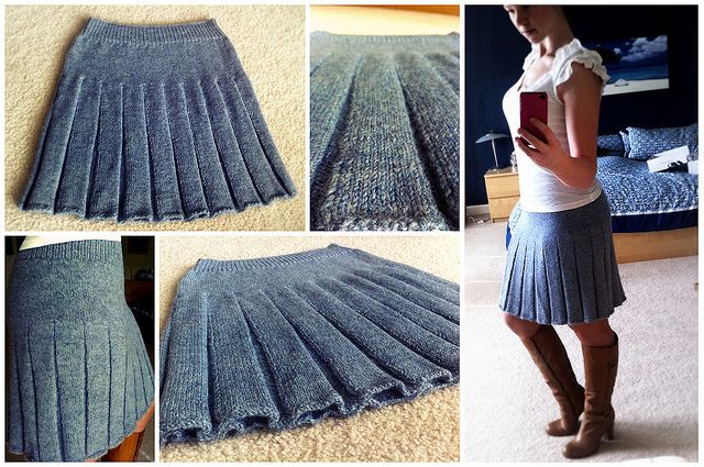 Pleated #knit skirt.