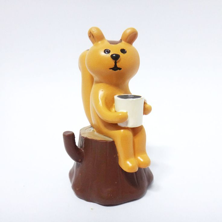 Concombre DECOLE Japan Cute Lovely Kawaii Figure Forest Squirrel drink Coffee #ConcombrebyDECOLE