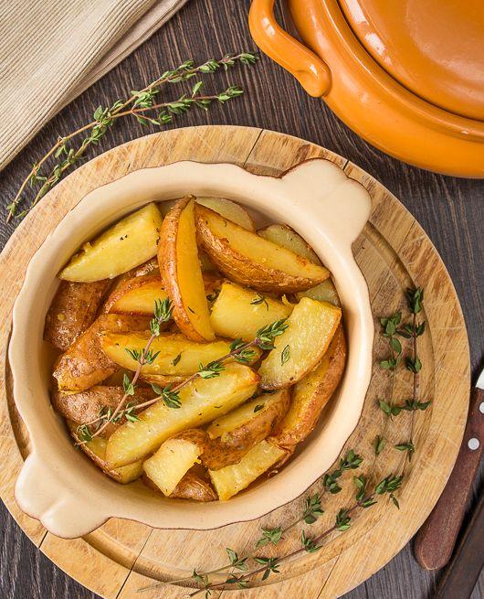 Печеные картофельные дольки с сыром