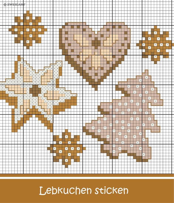 Lebkuchen im Advent sticken – Entdecke zahlreiche kostenlose Charts zum Sticken!