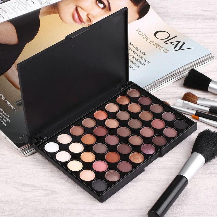 40 Colores Mate Paleta de Sombra de ojos Maquillaje Cosmético Sombra de Ojos Paleta Maquiagem Colorido Regalo