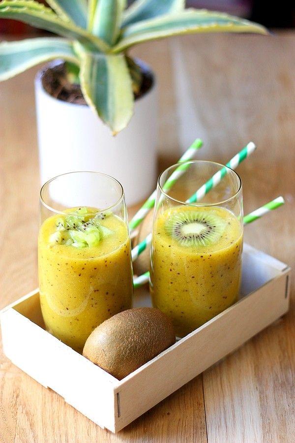 Smoothie Vitaminé au Kiwi, Mangue, Agrumes & Gingembre @ Gourmandiseries {miam ❤︎ le parfait coup de boost pour bien démarrer la journée et faire le plein de vitamines}