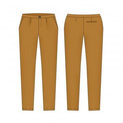 patron de couture femme – Fusain le pantalon classique