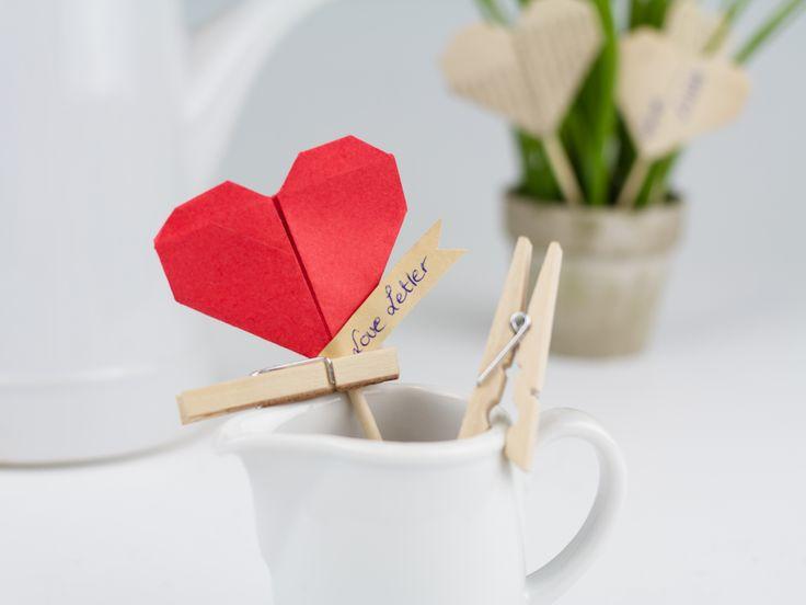 DIY-Anleitung: Origami-Herz falten via DaWanda.com
