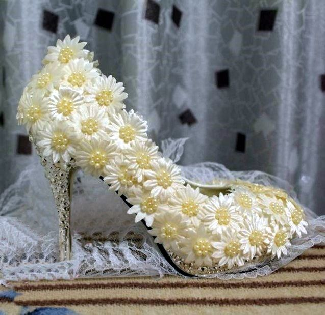 » Sunflowers Bridal/Event Pumps