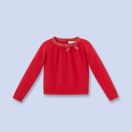 Fancy Lurex trimmed sweater for boys and girls, girl