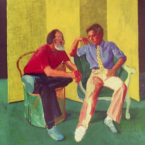 """The Conversation"" by David Hockney"