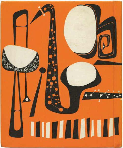 Bold, happy graphics of The First Book of Jazz, by Langston Hughes. Written in 1955, the book has really beautiful illustrations by Cliff Roberts