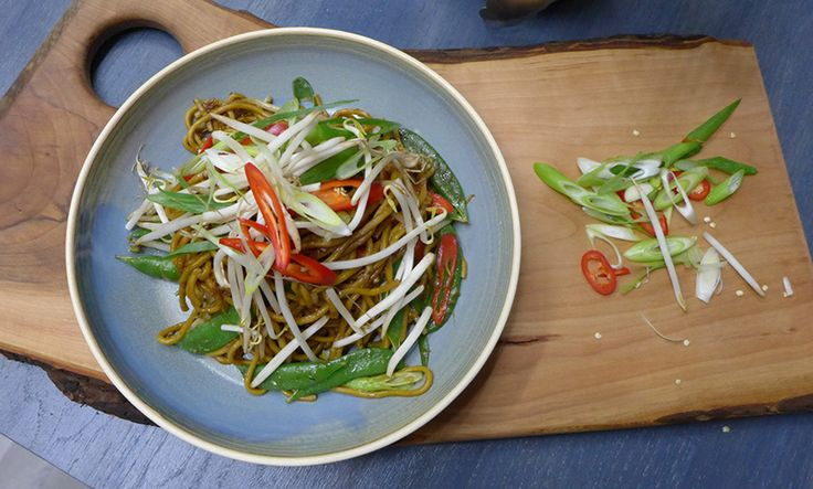 John Torode's Malay Noodles with Soy, Beanshoots, & Sugar Snaps