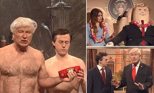 SNL: Baldwin's Trump schemes in shower with Paul Manafort   Daily Mail Online
