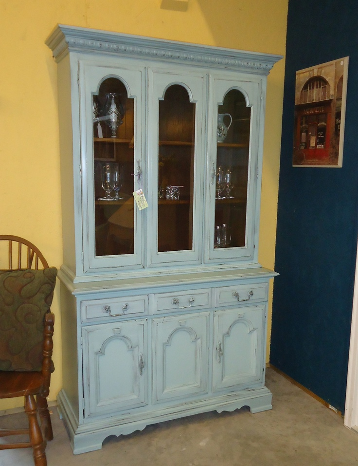 Painted China Cabinet Hutch Painted This Piece In Sw S