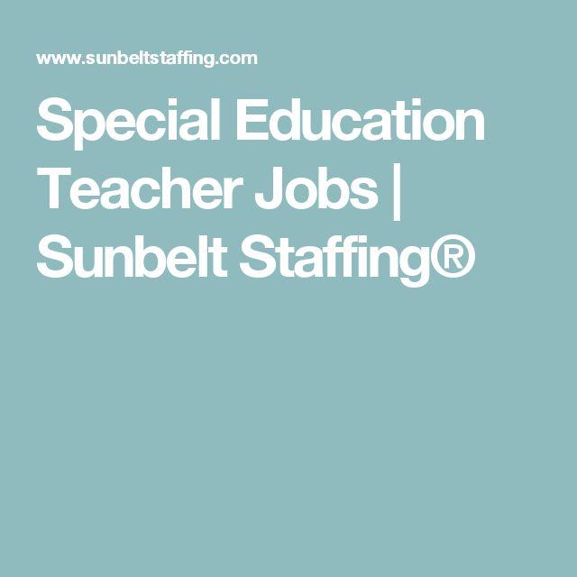 Special Education Teacher Jobs | Sunbelt Staffing®