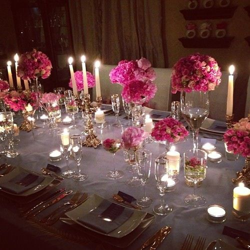Beautiful dinner party idea entertaining pinterest for Party table setting