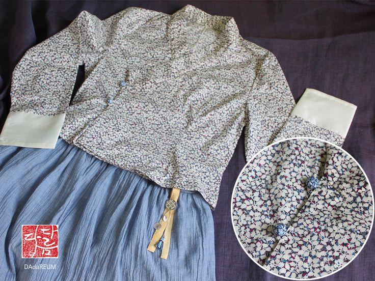 리버티 원단을 활용한 저고리와 고무줄 치마 #생활한복 #퓨전한복 #리버티저골ㅣ