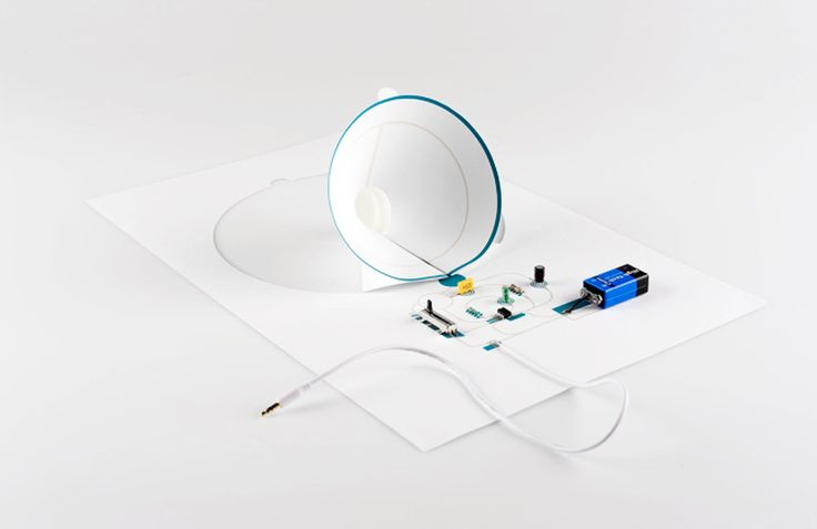 conductive electronic paper speakers by coralie gourguechon - designboom | architecture