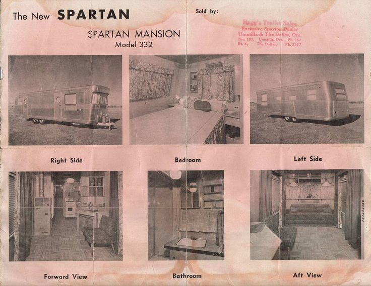 Spartan Mansion Trailer for Sale | Spartan Mansion house trailer Sales Brochure and Owners manual