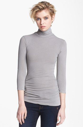 James Perse Skinny Turtleneck Top available at #Nordstrom