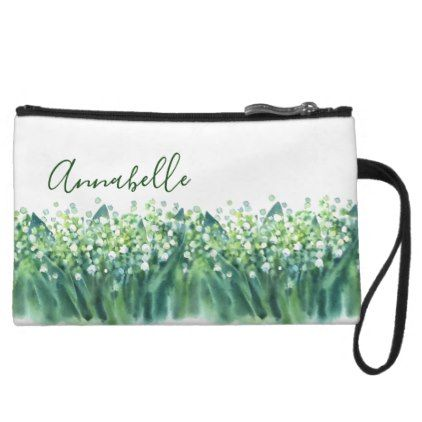 Lily Of The Valley Floral Spring Wedding Wristlet Wallet - spring gifts style season unique special cyo