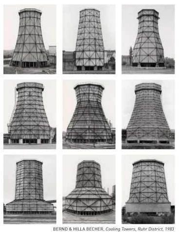 Bernd & Hilla Becher. Cooling Towers, Ruhr District, 1983