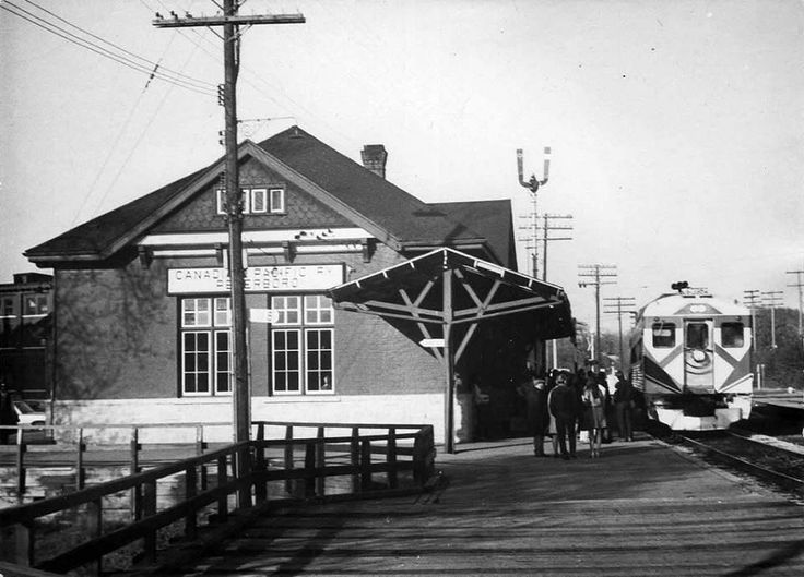 Circa 1970 ~ Peterborough Train Station; now the Chamber of Commerce office.