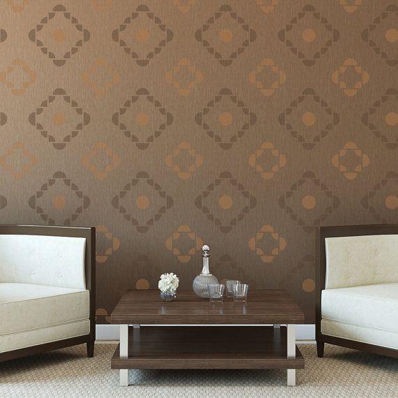 Geometric Stencil Cheyenne For Walls   Allover Stencils DIY Modern Home  Decor Part 50
