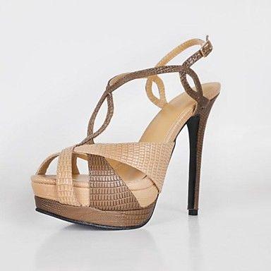De bc vrouwen hoge hakken t-strap platform sandalen schoenen – EUR € 45.45