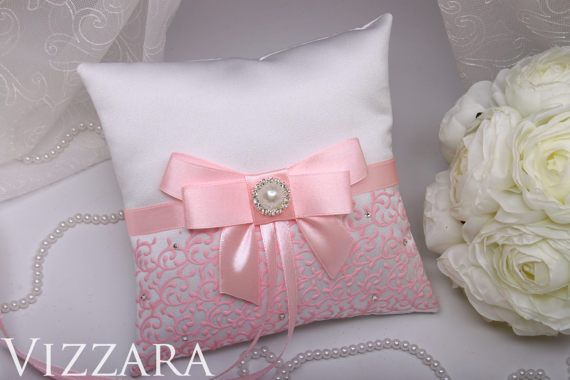 ring bearer pillow pink Wedding Ring Bearer Pillows Pink Wedding Pillow Pink Ring Bearer Pillow Wedding Lace pink accessories wedding ideas